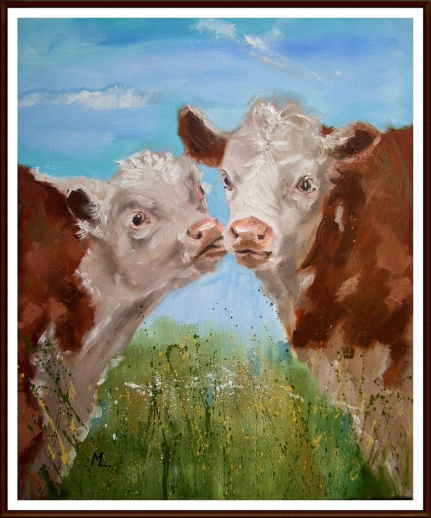 """"""" NOW, AND FOREVER """" GET LUCKY  - CUTE COW :) GIFT OFFICE HOME - Image 0"""