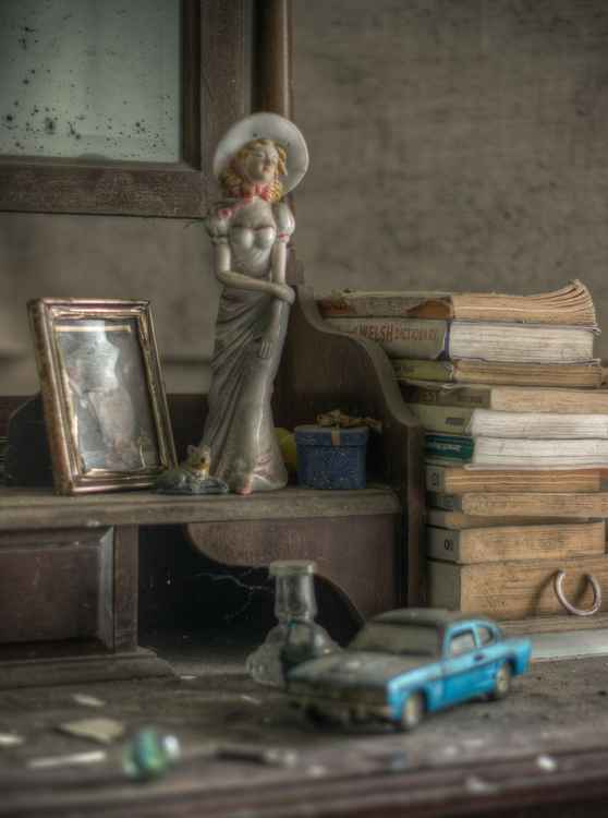 Still Life with Ceramics and Toy Car -