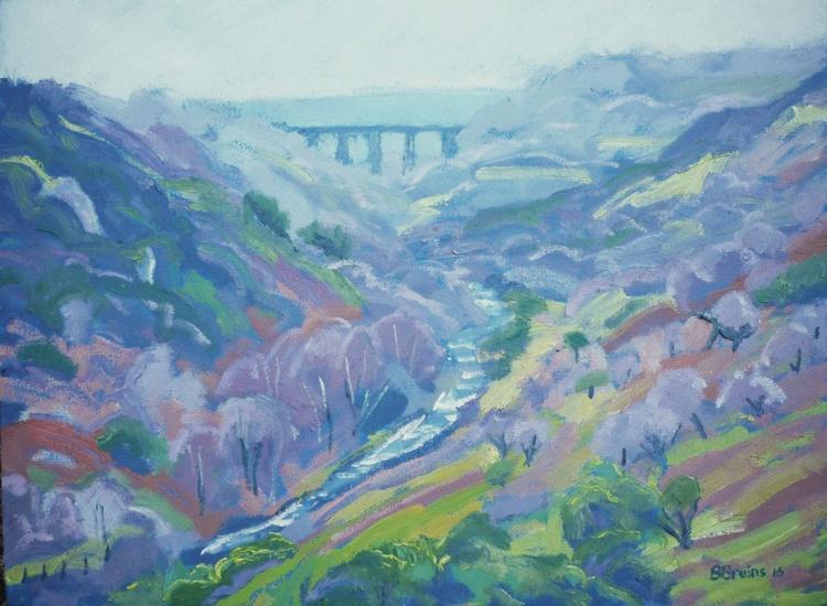 View of Meldon viaduct, West Dartmoor - Image 0