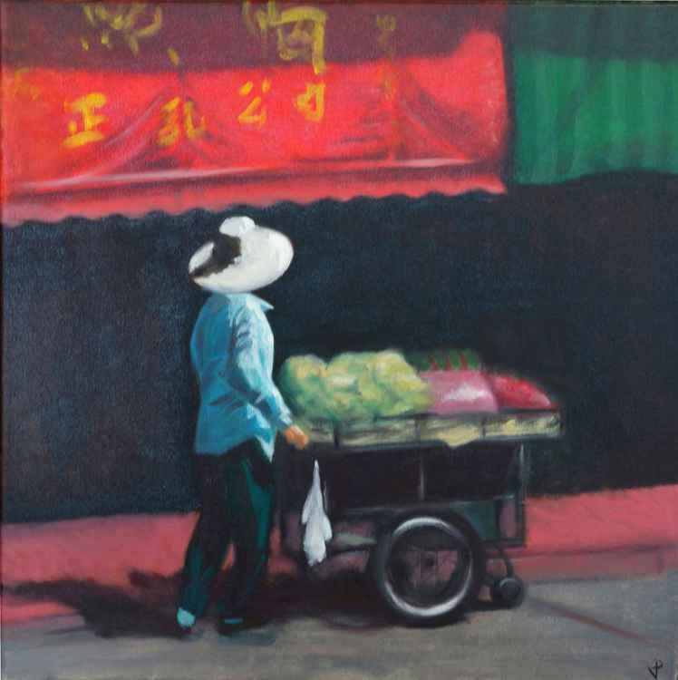 Market vendor in Vietnam