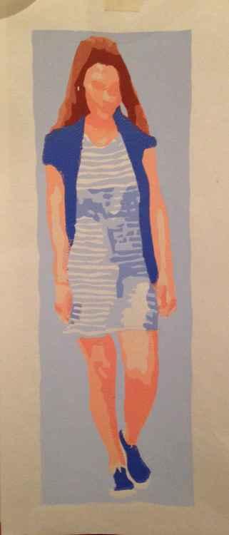 Girl in blue -