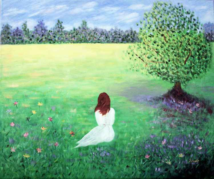 Girl in the meadow.....