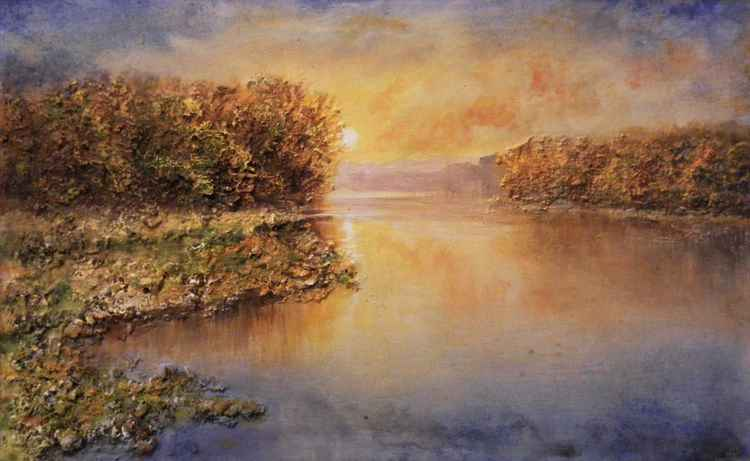 Impression.... sunset on the Danube -