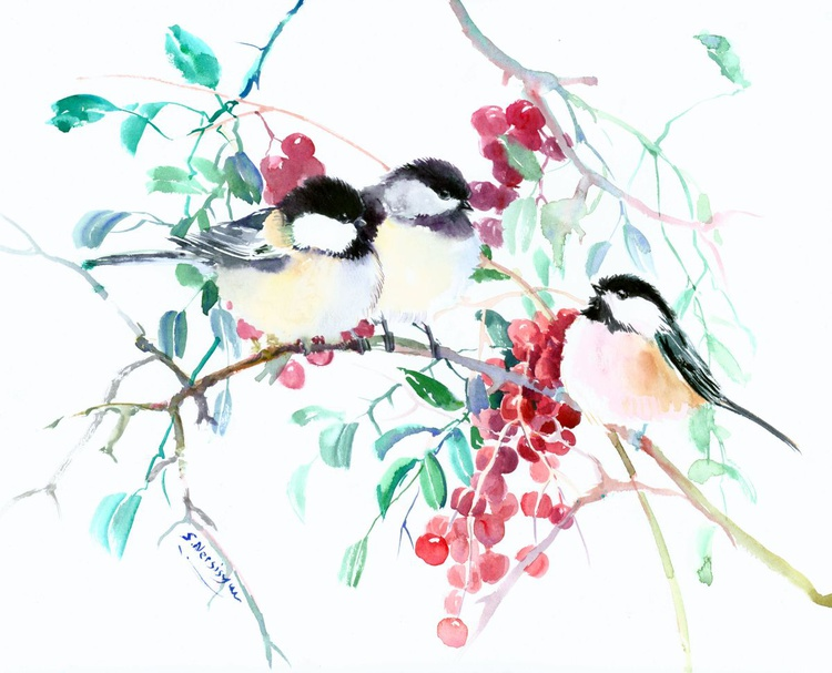 Chickadees and Berries - Image 0