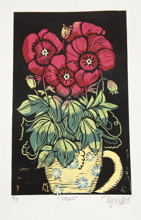 Vows (of Love), linocut reduction - Image 0