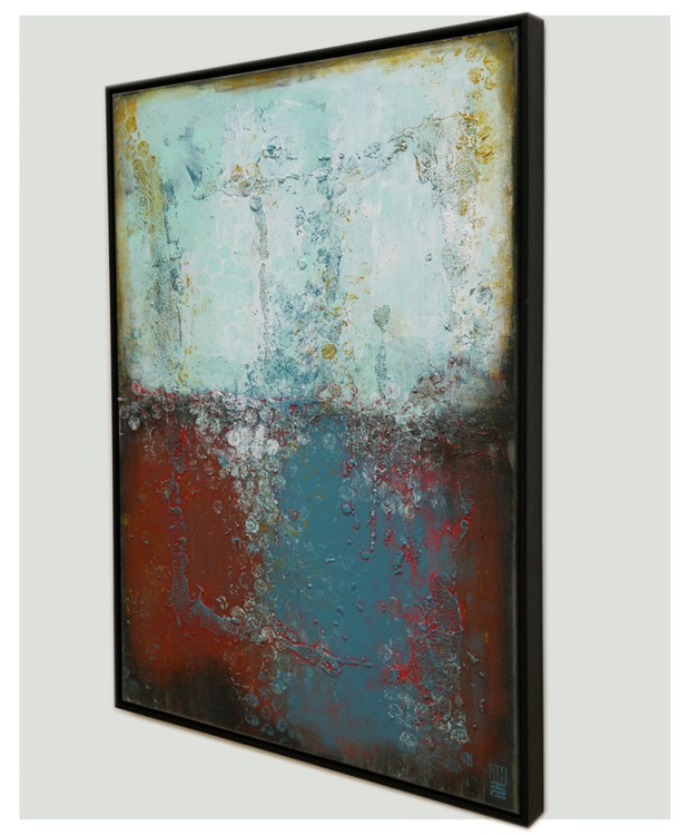 Abstract Painting - Boiling Bubbles Red - C25 - Image 0
