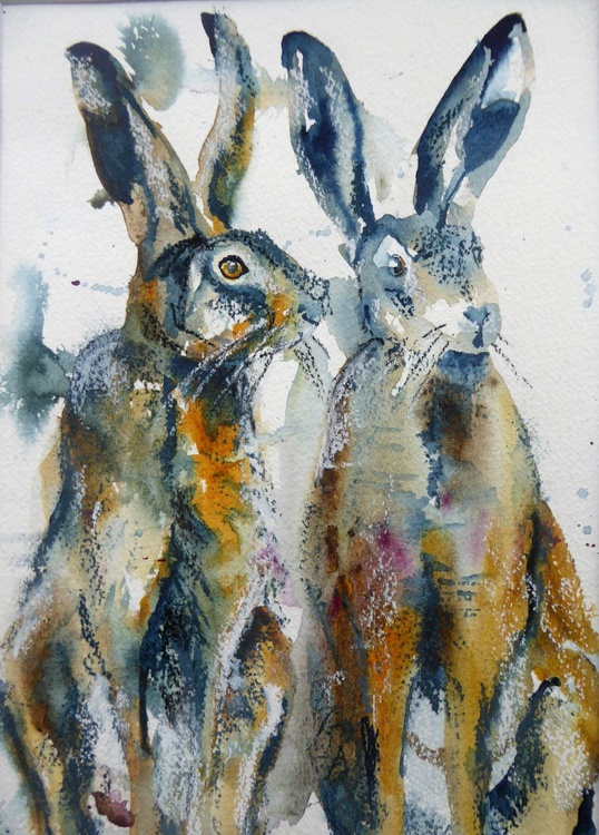 Contemplating Hares - Image 0