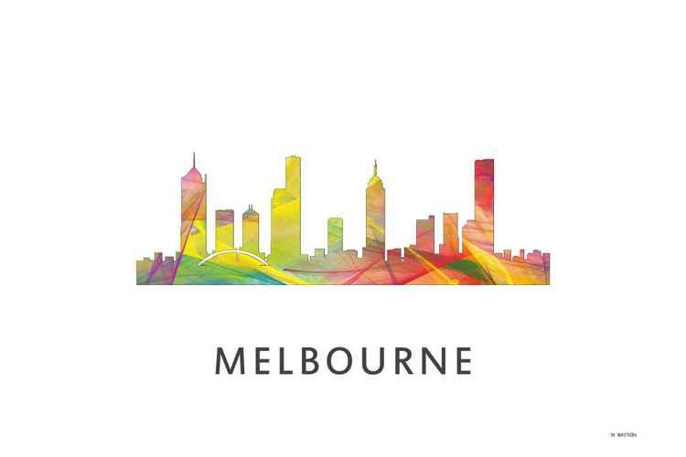 Melbourne Victoria Australia Skyline WB1 -