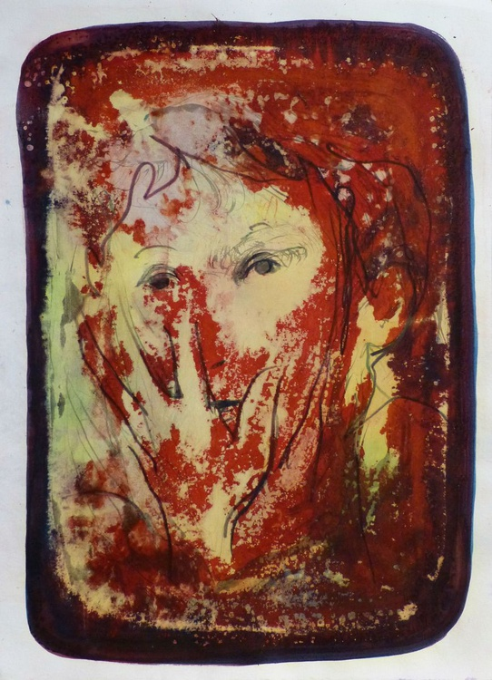 Straw Woman, 41x30 cm - Image 0
