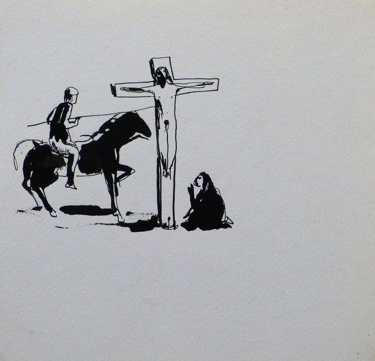 Crucifixion, 25x25 cm - Image 0