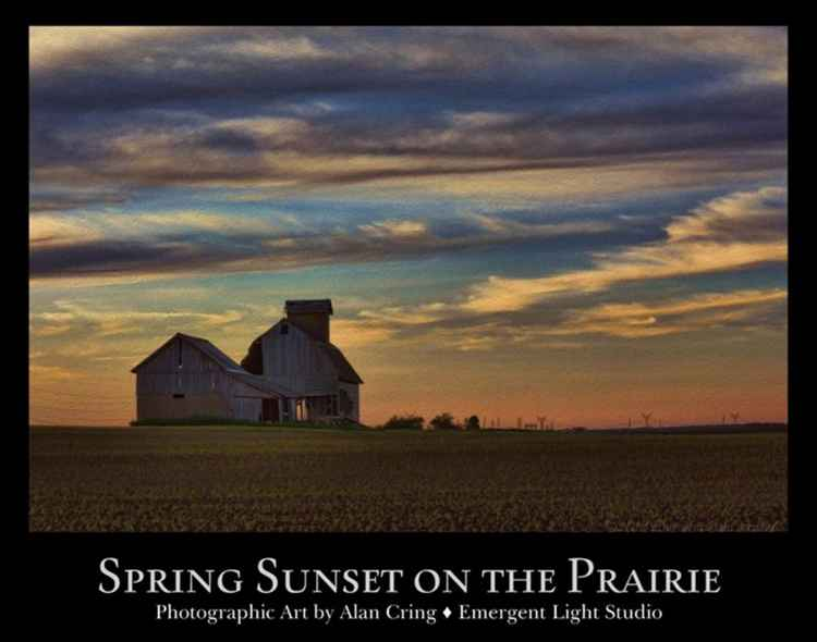 Spring Sunset on the Prairie Poster -