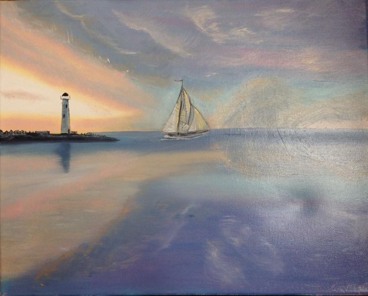 Sailboats at Dawn - Image 0
