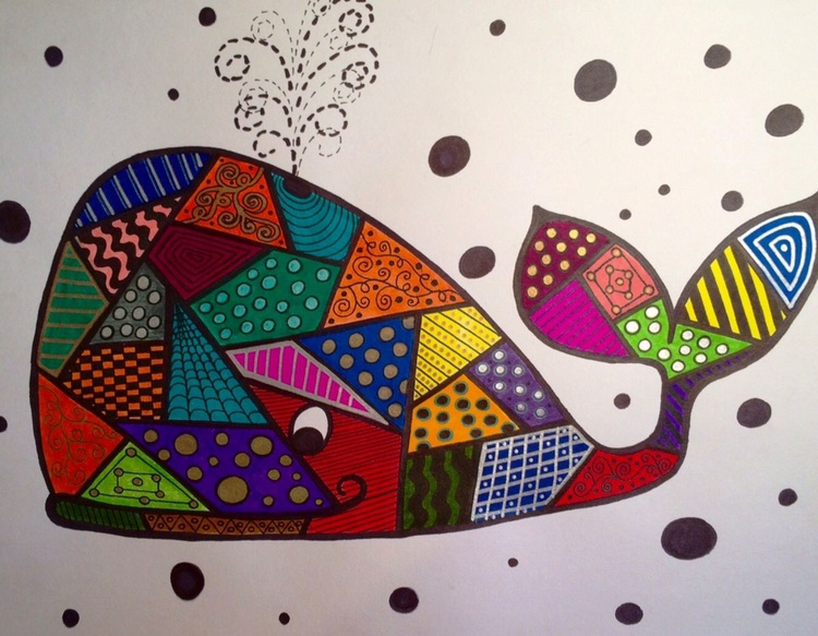 Patchwork Whale - Image 0
