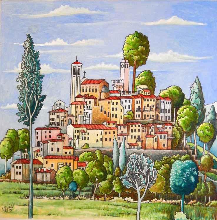 Monterchi Italian Hill Town -