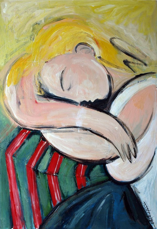 woman with yellow hair (Inspired by Picasso) - Image 0