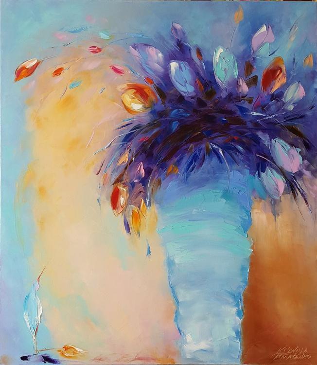 painting *Magic tulips*Oil on canvas 70х80 cm - Image 0