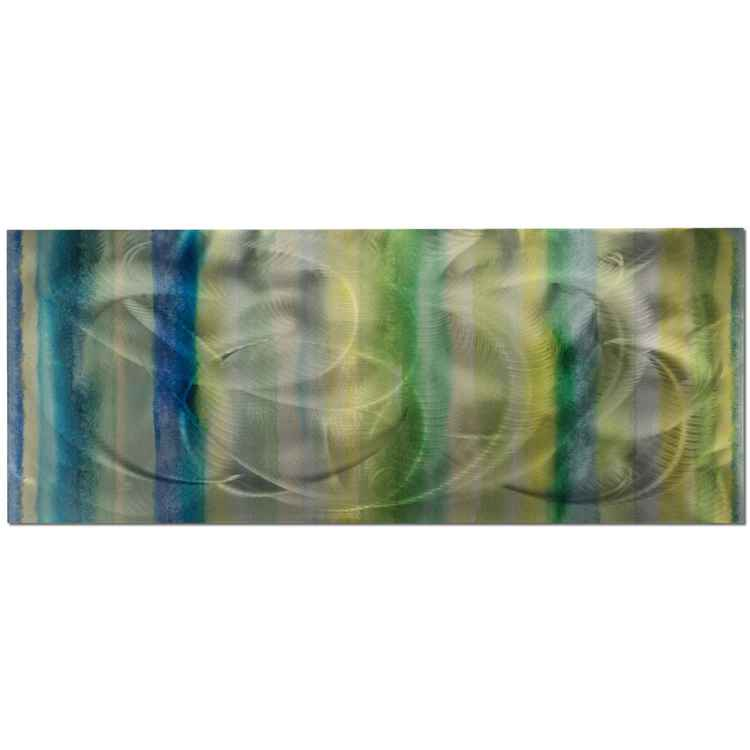 Cooling Lines | Cool Color Tones, Giclée on Metal