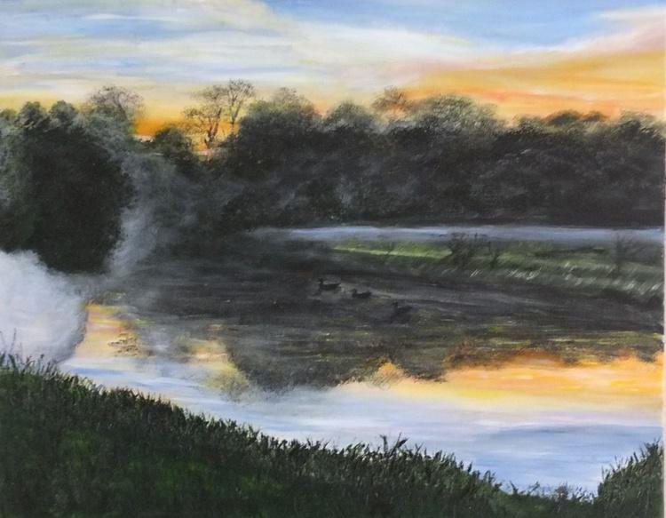 foggy sunset - Image 0