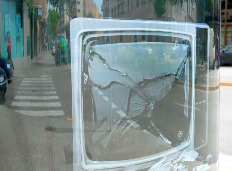 broken media -