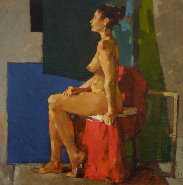 The Nude Model In Studio. oil on canvas. 75x75cm. - Image 0