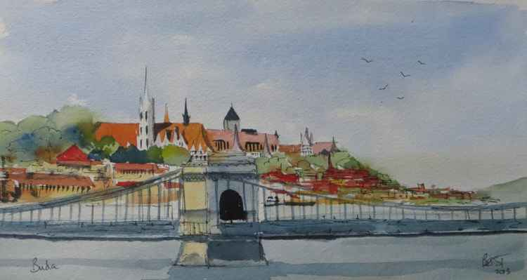 Old Buda and the Chain Bridge -