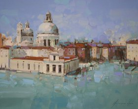 Venice  Original oil painting  Handmade artwork One of a kind by Vahe Yeremyan
