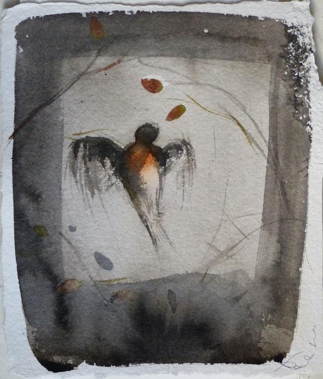 Birds of Carros #37, on heavy paper 27x31 cm - Image 0