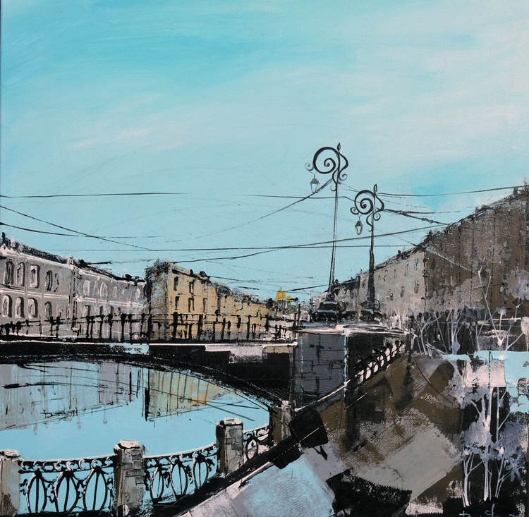 Venice Of The North - 76.5cm x 76.5cm, ready to hang - Image 0