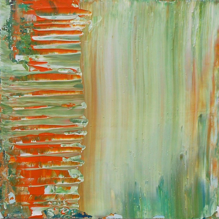 "Apricot Sunrise - 8x8"" - GIFT IDEA - Ready-to-hang - Image 0"