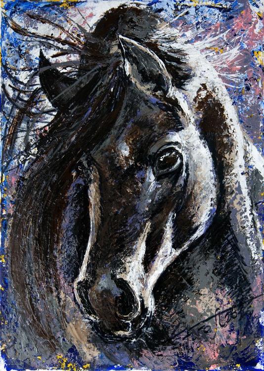 """Diana II"",original acrylic painting 50x70cm, ready to hang - Image 0"