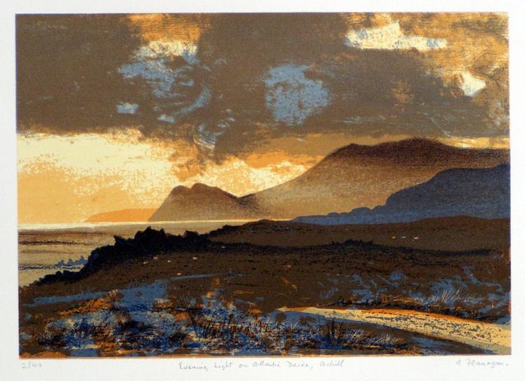 Evening light on Atlantic Drive, Achill - Image 0