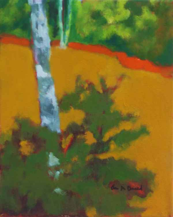Trees in Ochre Field