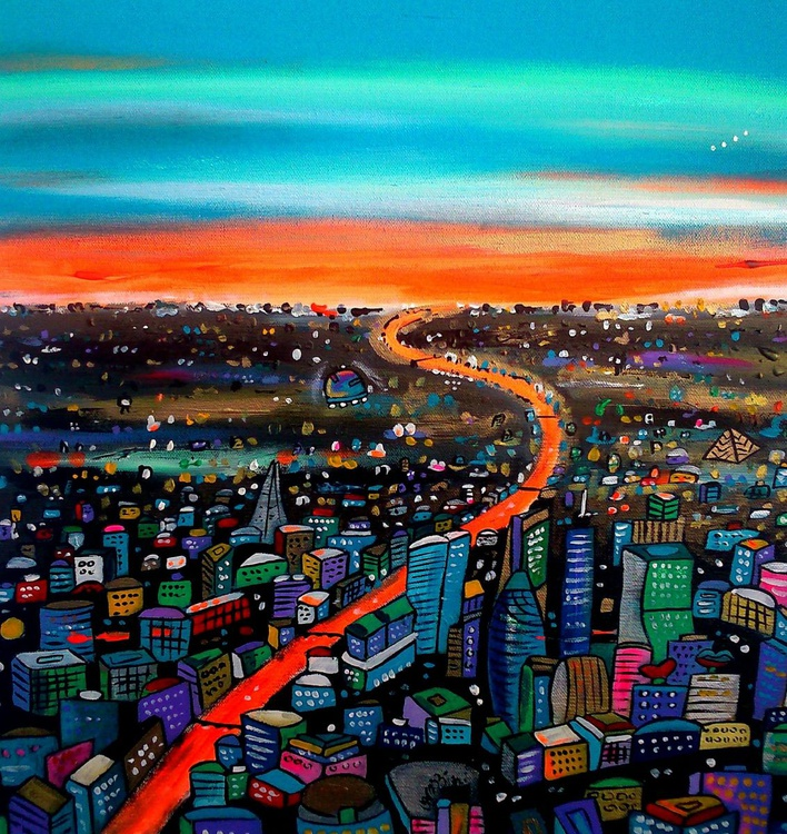 Orange River of London 50x50 cm - Image 0