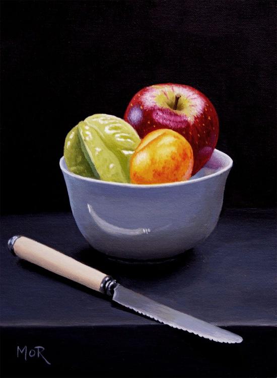 Fruitbowl and Knife - Image 0