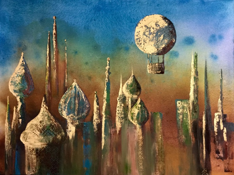 Dream City of turquoise and gold - Image 0
