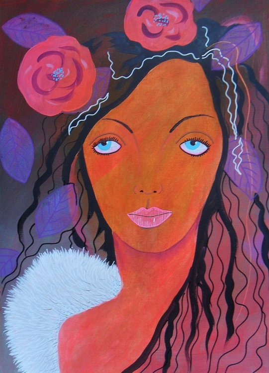 Angel With Roses - Image 0