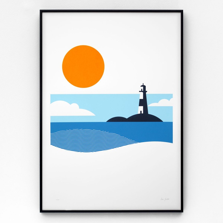 Lighthouse A2 limited edition screen print - Image 0