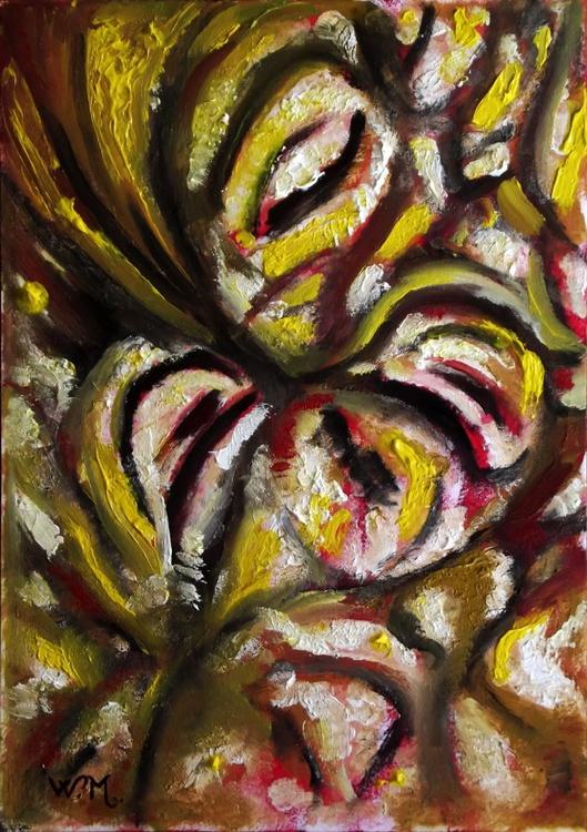 NOISY CROWD - Illusionistic figure - Face combination - 20.5x30cm - Image 0