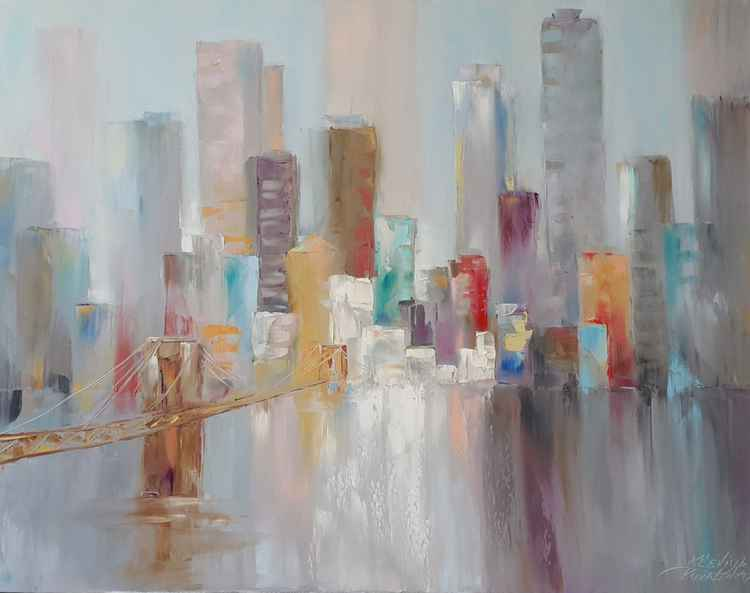 painting *Skyscrapers*Oil on canvas 90х70 cm