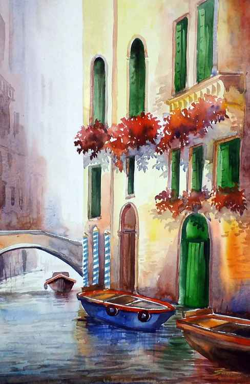 Morning Light & Canals - Watercolor Painting -