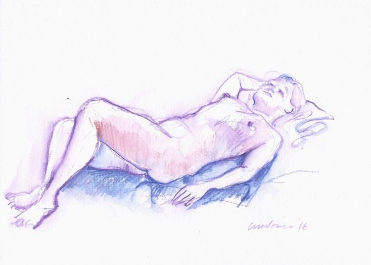Purple Nude - life drawing #02 - Image 0