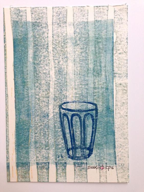"Series ""LittleKitchenArt"": Glass And Stripes - Image 0"