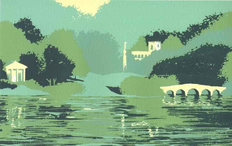 Stourhead, Evening -
