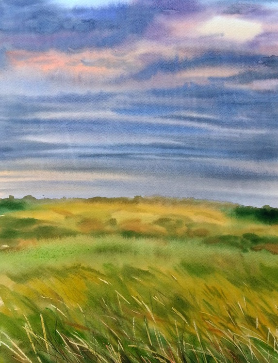 Northumberland, Field, Stormy sky - Image 0