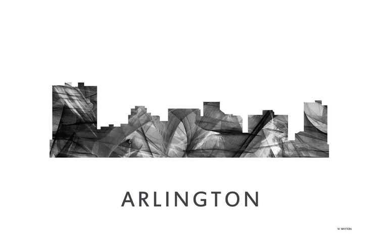 Arlington Texas Skyline WB BW -