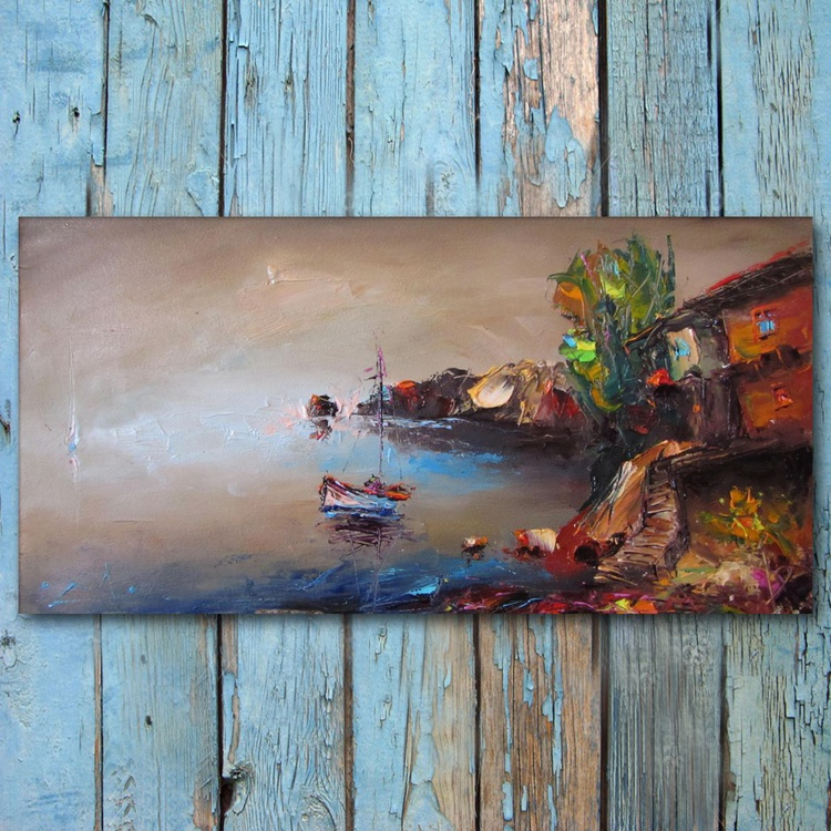 Summer, oil painting, free shipping - Image 0