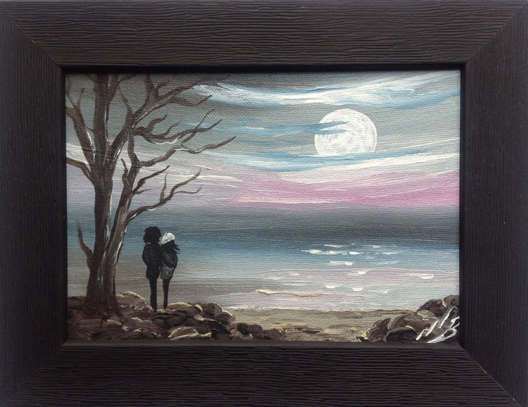 Moon Gazing in a Frame - Image 0