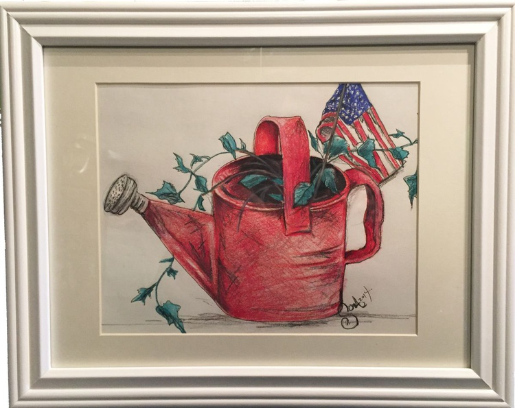 Red Watering Can - Image 0