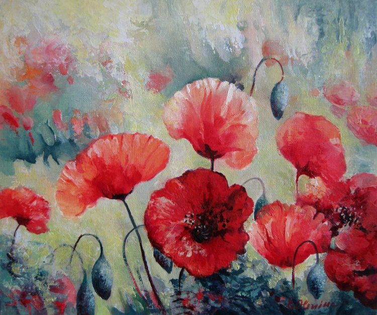 Field of poppies - Image 0