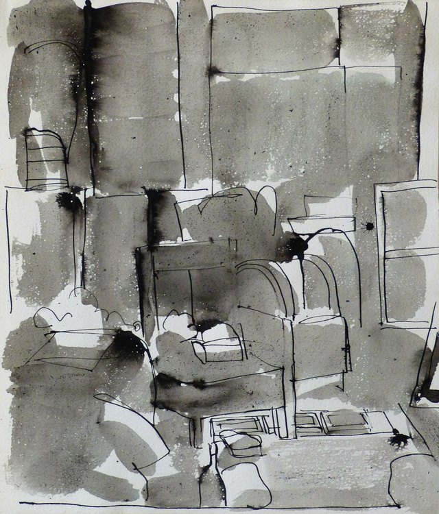 Interior: Living Room, 24x28 cm - Image 0